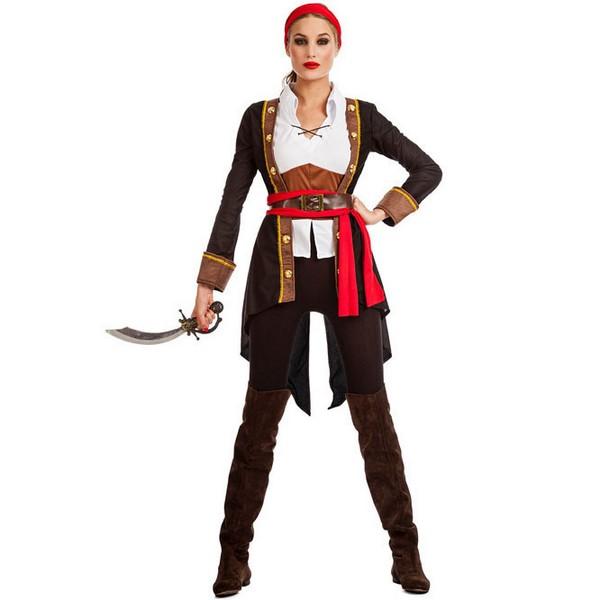 disfraz de pirata casaca mujer - DISFRAZ DE PIRATA CASACA NEGRO MUJER