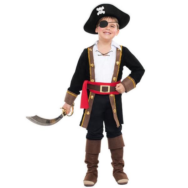 disfraz de pirata casaca para nino - DISFRAZ PIRATA CASACA NEGRO NIÑO