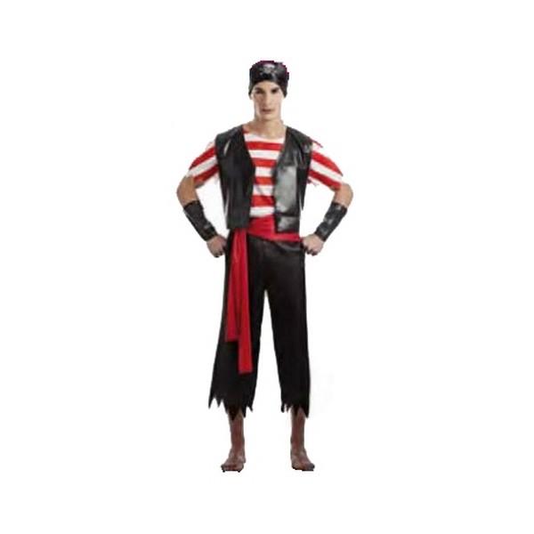 disfraz de pirata para hombre 1 - DISFRAZ DE PIRATA NEGRO HOMBRE