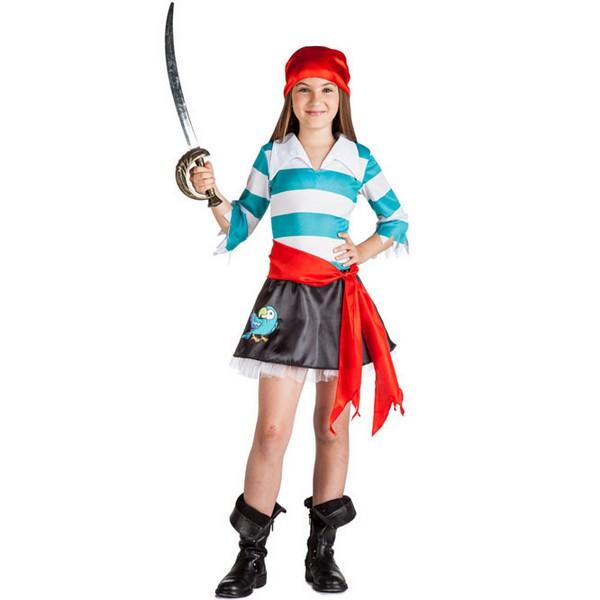 disfraz de piratina loro para nina - DISFRAZ DE PIRATA LORO NIÑA