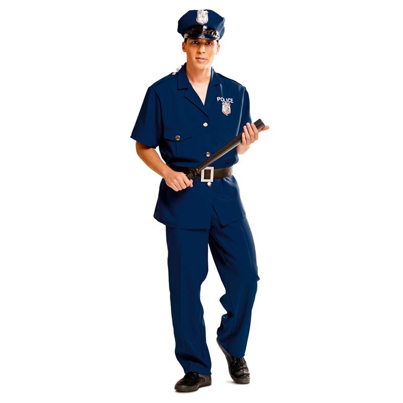 disfraz de policia adulto manga corta - DISFRAZ DE POLICIA M/ CORTA HOMBRE