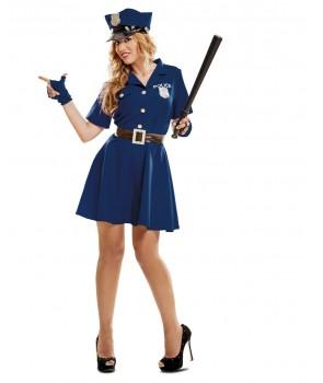 disfraz de policia adulto mujer 1 - DISFRAZ DE POLICIA FALDA MUJER