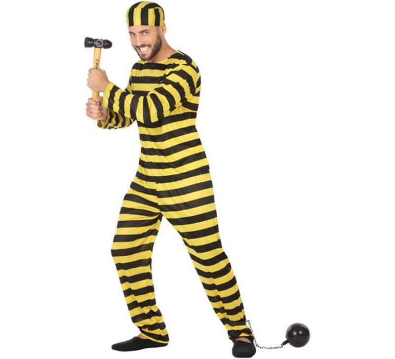 disfraz de preso amarillo hombre 800x727 - DISFRAZ DE PRESO  DALTON  PARA HOMBRE