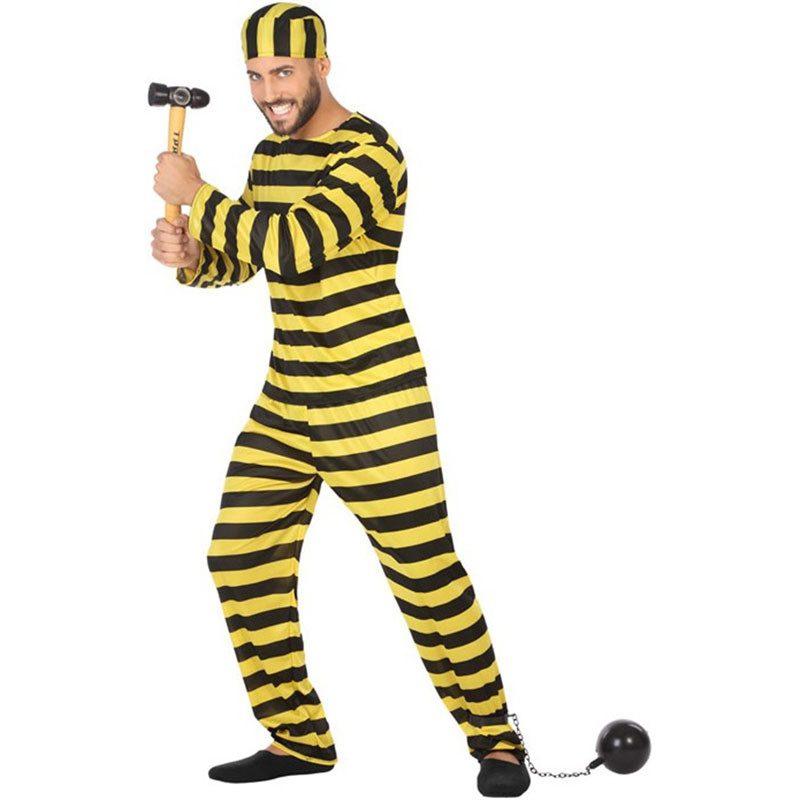 disfraz de preso amarillo hombre 800x800 - DISFRAZ DE PRESO  DALTON  PARA HOMBRE