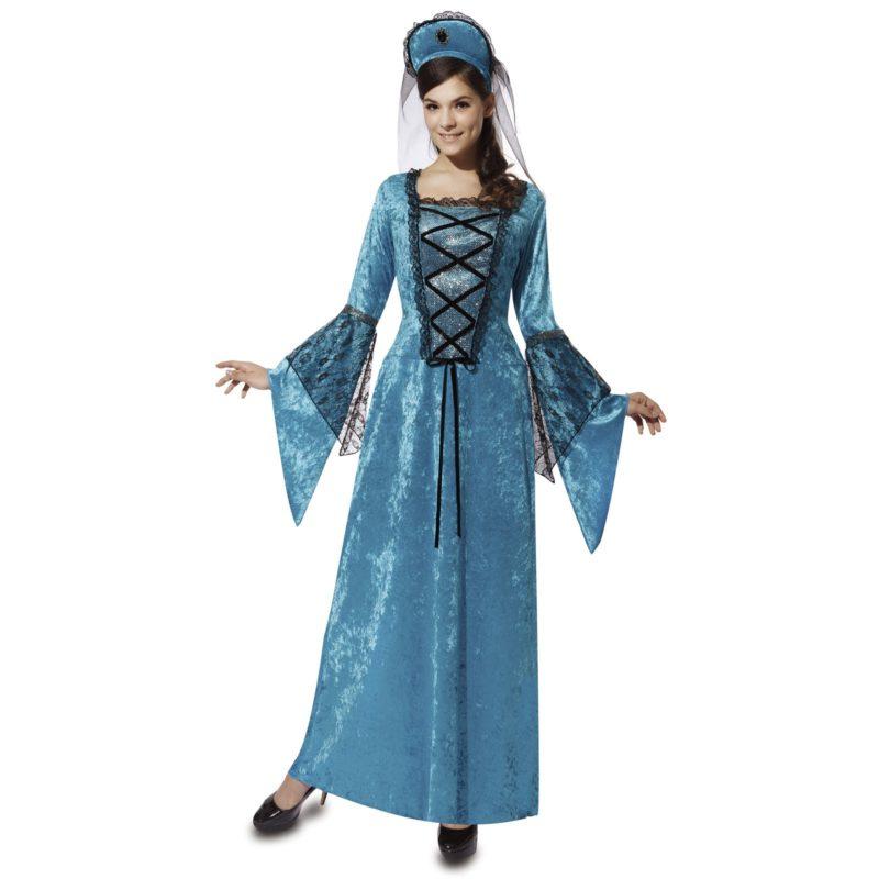disfraz de princesa medieval azul mujer 800x800 - DISFRAZ DE PRINCESA MEDIEVAL AZUL MUJER