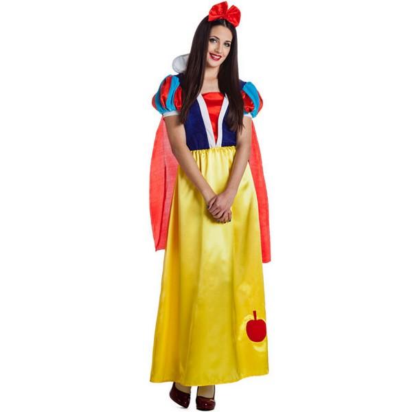 disfraz de princesa nieves largo para mujer  - DISFRAZ DE BLANCANIEVES LARGO MUJER