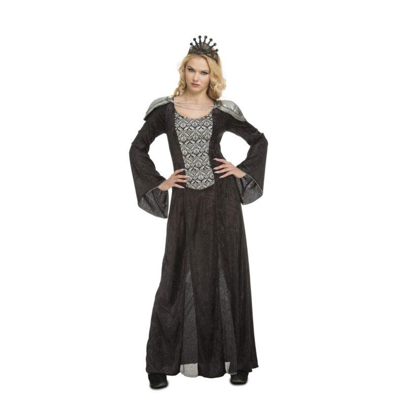 disfraz de reina negra mujer 800x800 - DISFRAZ DE REINA MEDIEVAL NEGRO MUJER