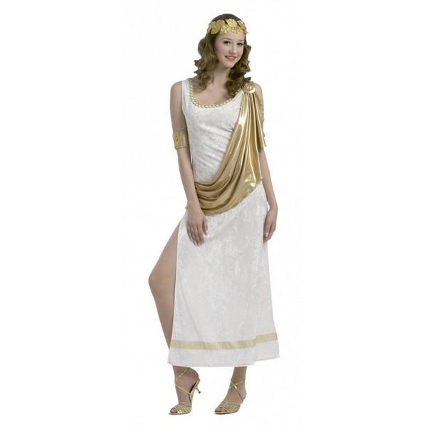 disfraz de reina romana - DISFRAZ DE ROMANA DORADO MUJER