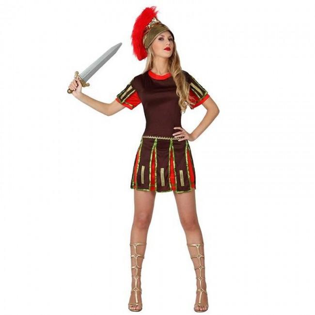 disfraz de romana adulto - DISFRAZ GUERRERA ROMANA CASCO MUJER
