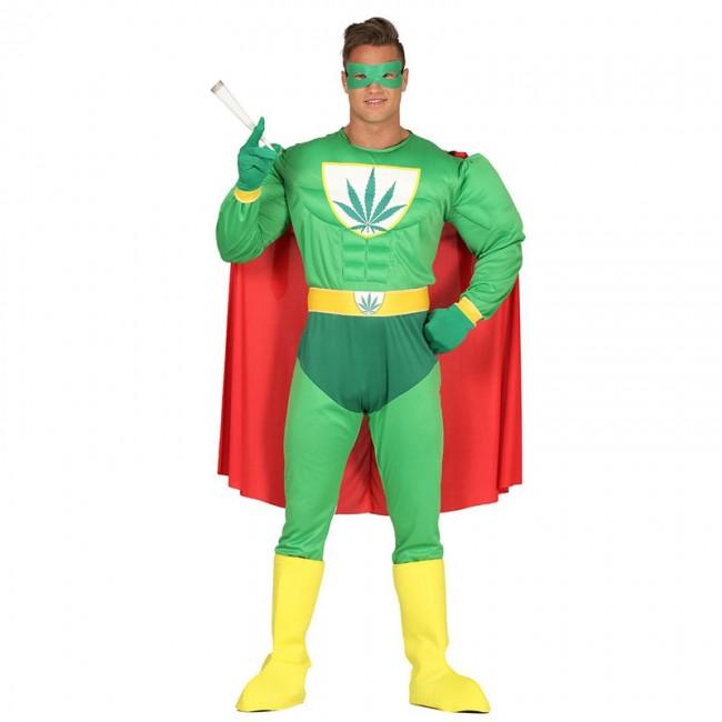 disfraz de super heroe marihuana hombre - DISFRAZ DE SUPERHEROE MARIHUANA HOMBRE