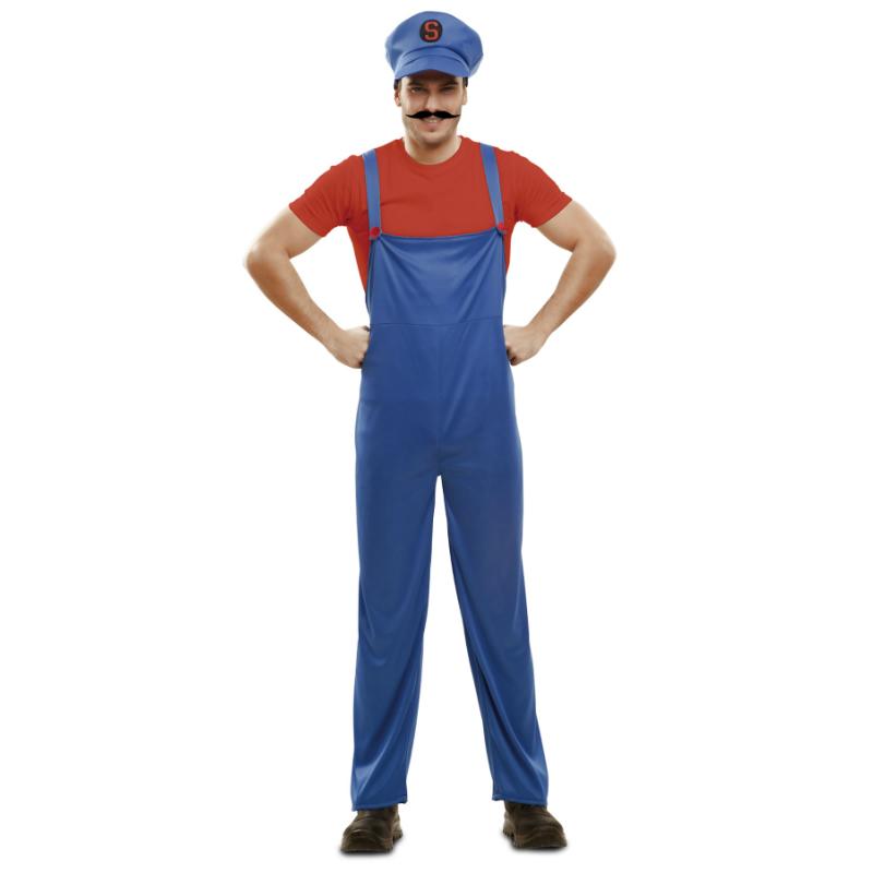 disfraz de supermario adulto - DISFRAZ DE SUPERMARIO