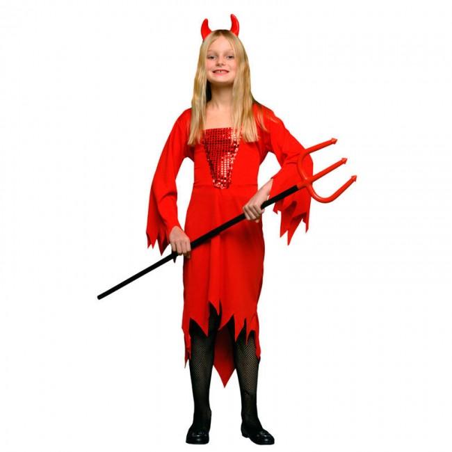 disfraz demonia rojo alas niña - DISFRAZ DE DEMONIA ROJO NIÑA