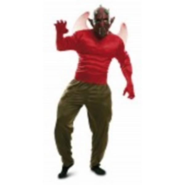 disfraz demonio musculoso - DISFRAZ DE DIABLO INFERNAL ADULTO