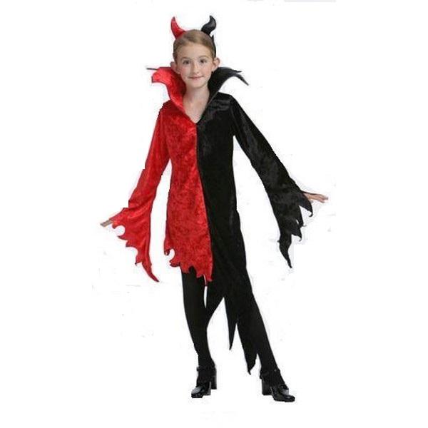 disfraz diablesa infantil 1 - DISFRAZ DE ANGEL- DEMONIO R/N NIÑA