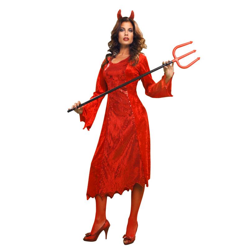 disfraz diablesa mujer rojo - DISFRAZ DE DIABLESA MUJER