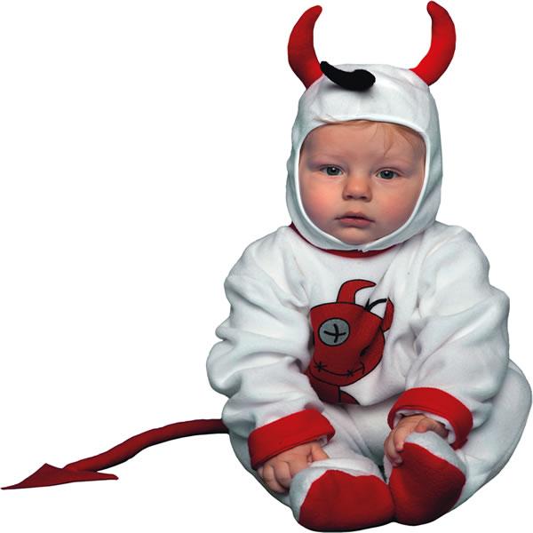 disfraz diablo blanco bebé - DISFRAZ DE DIABLILLO BEBÉ