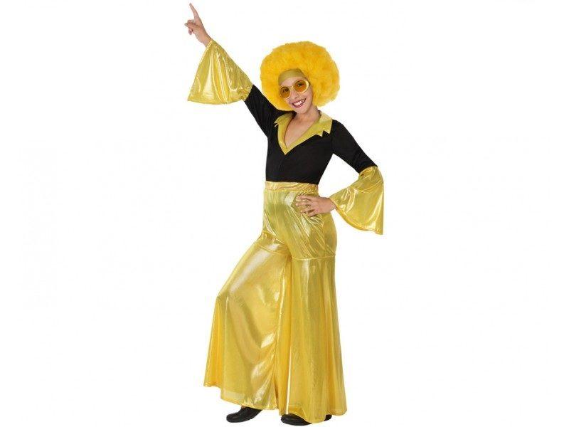 disfraz disco amarillo niña 800x600 - DISFRAZ DE DISCO AMARILLO NIÑA