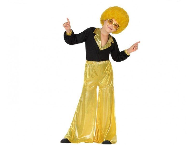 disfraz disco amarillo niño 800x600 - DISFRAZ DE DISCO AMARILLO NIÑO