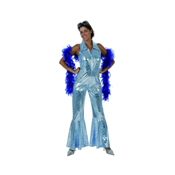 disfraz disco azul mujer - DISFRAZ DE DISCO AZUL MUJER