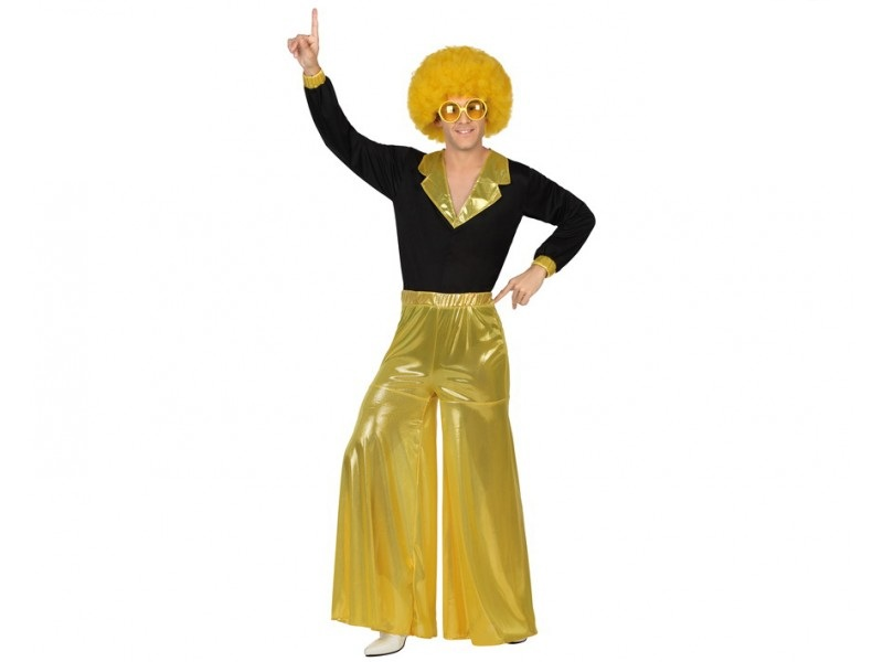 disfraz disco dorado hombre - DISFRAZ DE DISCO DORADO HOMBRE