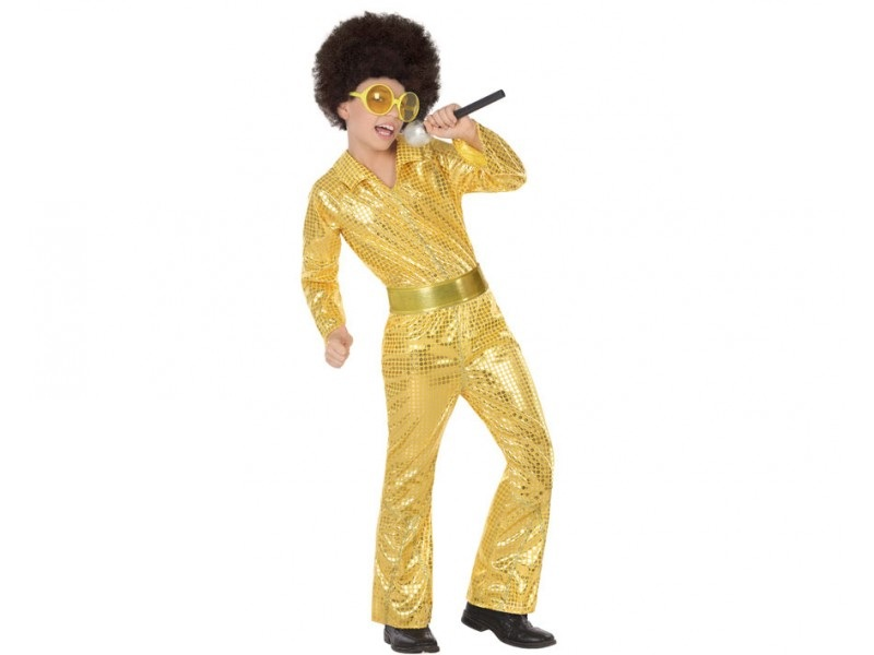 disfraz disco dorado niño - DISFRAZ DE DISCO DORADO NIÑO