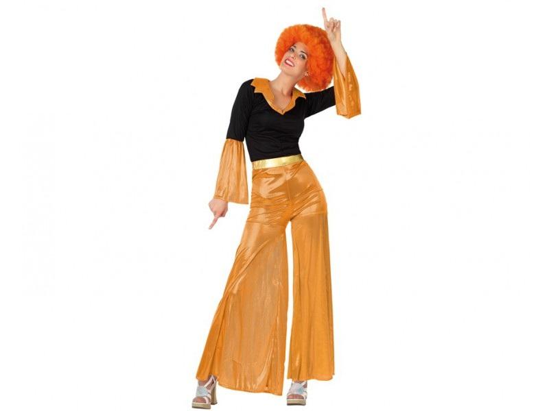 disfraz disco mujer naranja - DISFRAZ DE DISCO NARANJA MUJER