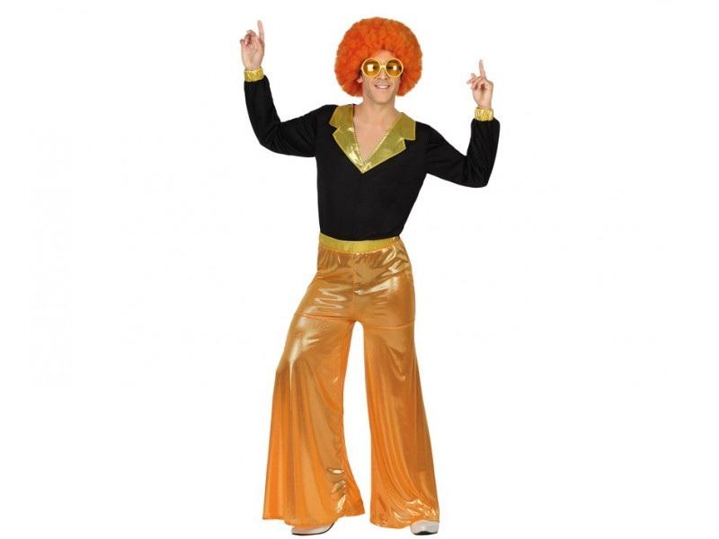 disfraz disco naranja hombre - DISFRAZ DE DISCO NARANJA PARA HOMBRE