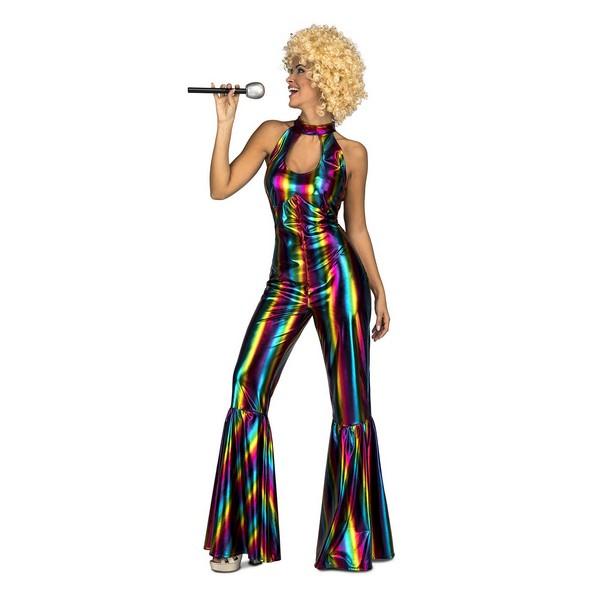 disfraz disco rainbow mujer - DISFRAZ MONO DISCO RAINBOW MUJER