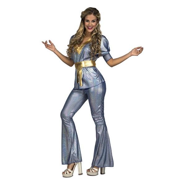 disfraz disco silver mujer - DISFRAZ DISCO SILVER MUJER