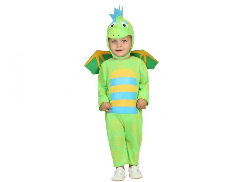 disfraz dragón verde bebé - DISFRAZ DE DRAGON VERDE BEBE