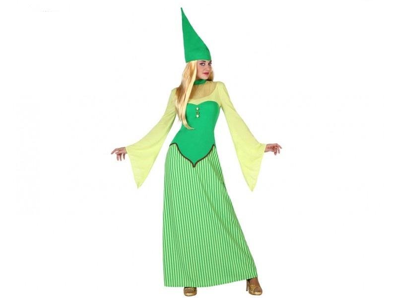 disfraz duende mujer 1 - DISFRAZ DE DUENDE VERDE MUJER
