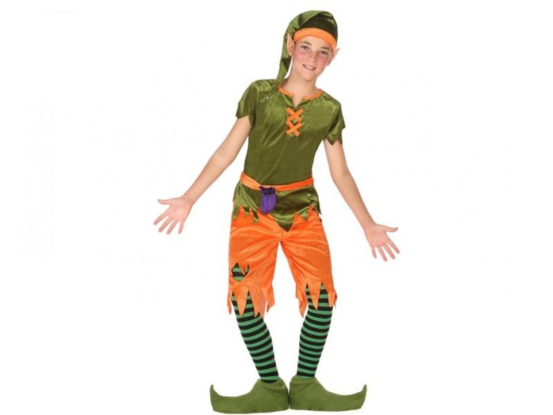 disfraz duende niño - DISFRAZ DE DUENDE VERDE NIÑO