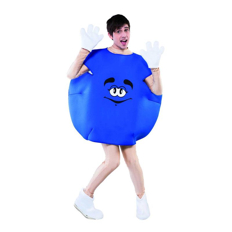 disfraz dulce mm azul adulto 1 - DISFRAZ DE DULCE AZUL M&M ADULTO
