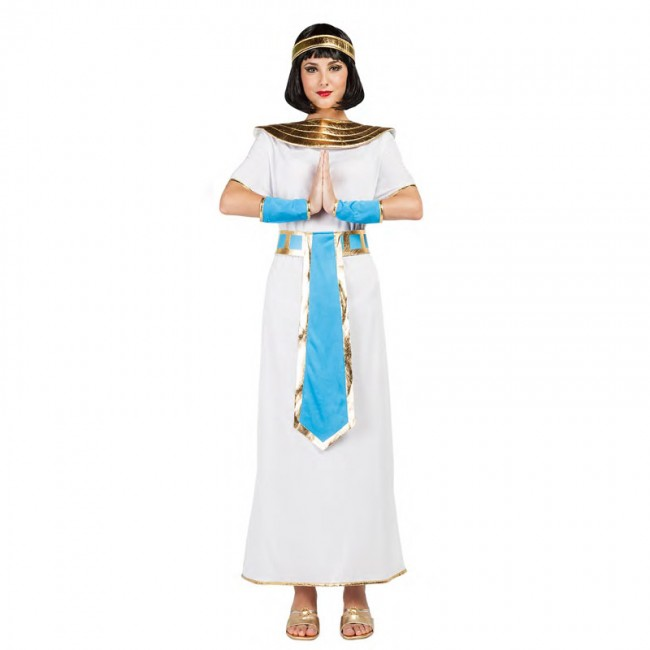 disfraz egipcia azul para mujer - DISFRAZ DE EGIPCIA AZUL MUJER