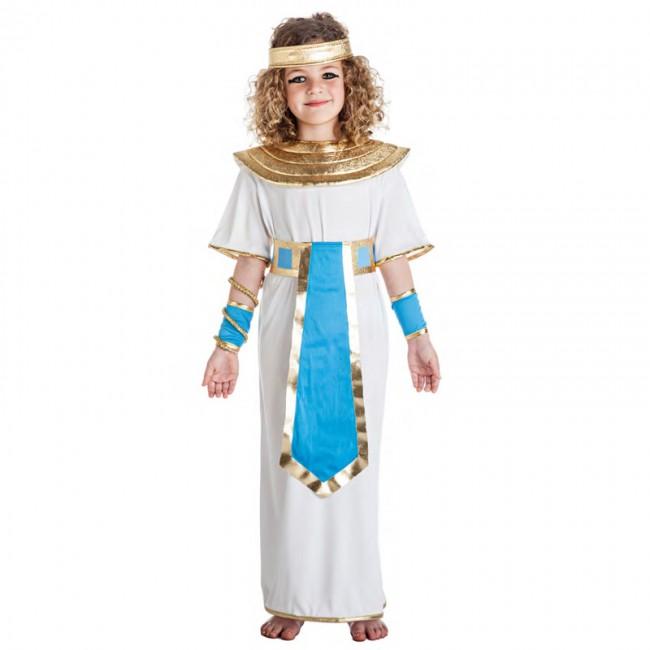 disfraz egipcia azul para nina 1 - DISFRAZ EGIPCIA AZUL PARA BEBE
