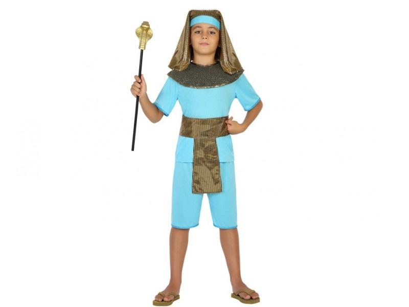 disfraz egipcio niño - DISFRAZ DE EGIPCIO AZUL NIÑO