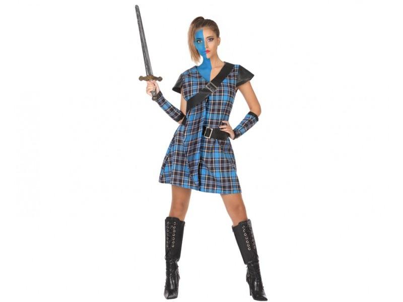 disfraz escocesa mujer - DISFRAZ DE GUERRERA ESCOCESA MUJER