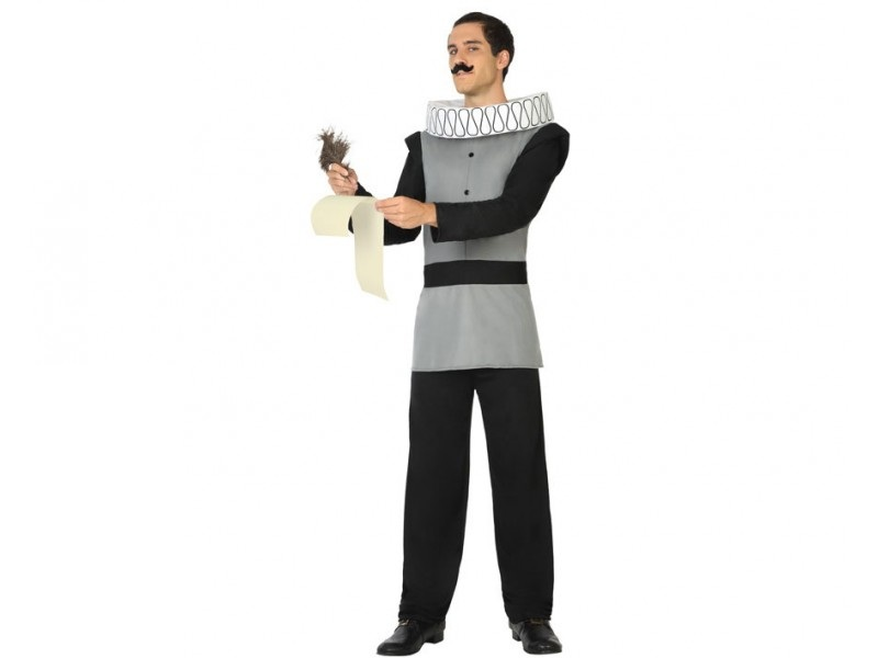 disfraz escritor medieval hombre - DISFRAZ DE ESCRITOR MEDIEVAL HOMBRE