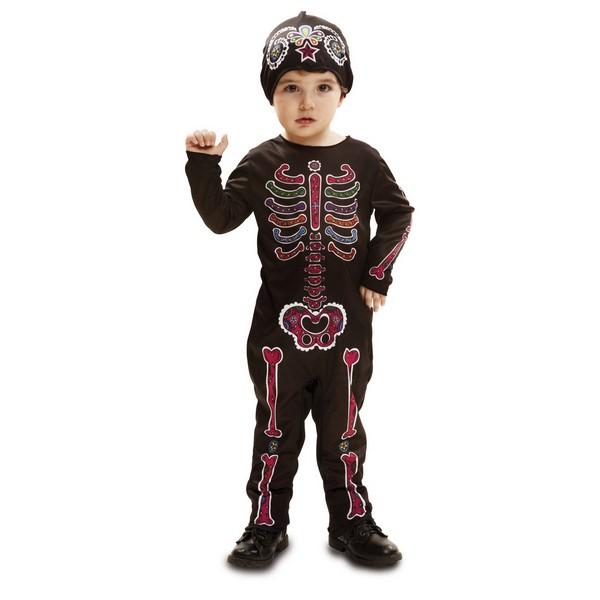 disfraz esqueleto colores bebé - DISFRAZ DE ESQUELETO COLORES PEQUE