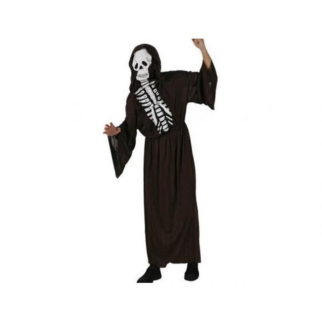 disfraz esqueleto rojo hombre - DISFRAZ DE ESQUELETO TUNICA ROJO HOMBRE