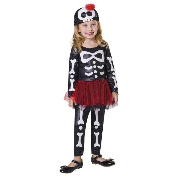 disfraz esqueleto tutu bebé - DISFRAZ ESQUELETO TUTU NIÑA BEBE