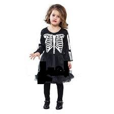 disfraz esqueleto vestido niña - DISFRAZ VESTIDO ESQUELETO INFANTIL