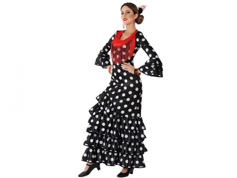 disfraz flamenca negro mujer 800x600 - DISFRACES MUJER
