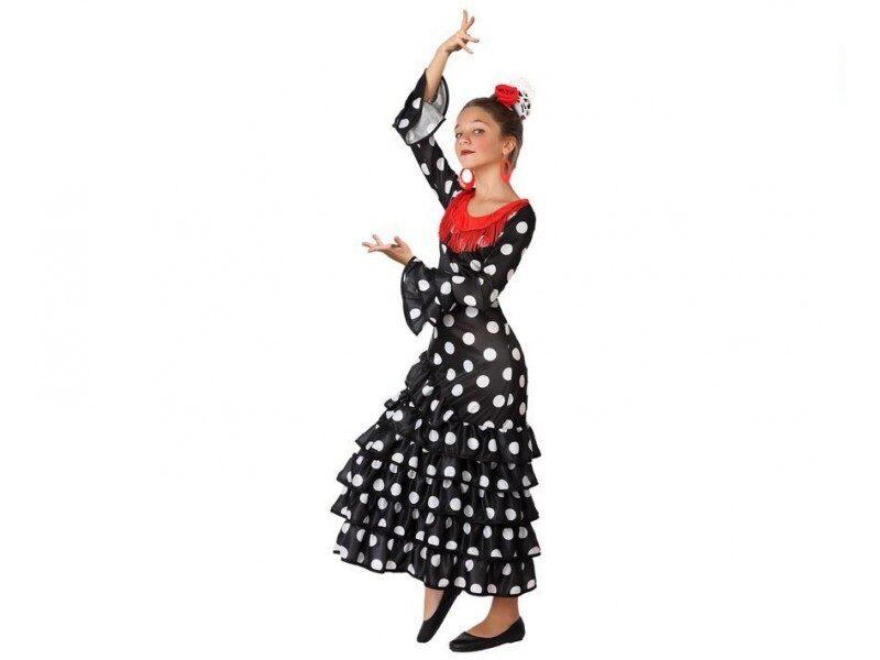 disfraz flamenca negro niña 800x600 - DISFRAZ DE FLAMENCA NEGRO NIÑA