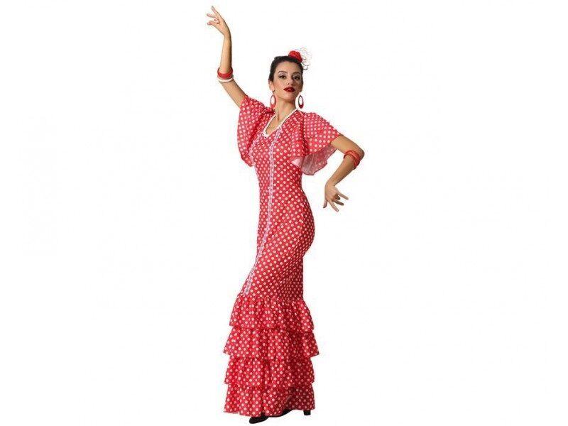 disfraz flamenca rojo mujer 800x600 - DISFRACES MUJER
