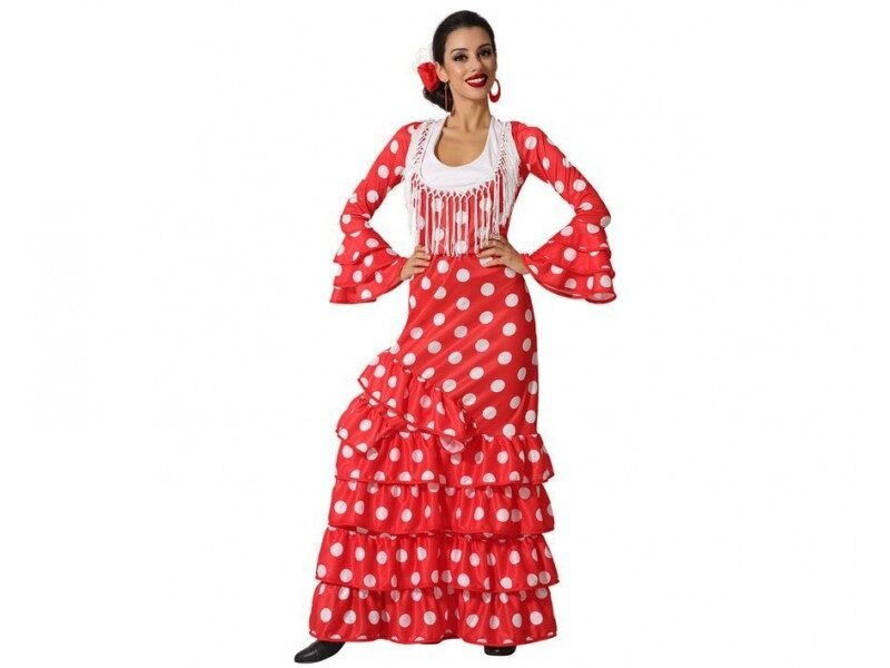 disfraz flamenca rojo mujer. 800x600 - DISFRACES MUJER