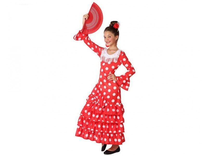 disfraz flamenca rojo niña. 800x600 - DISFRAZ DE FLAMENCA ROJO NIÑA