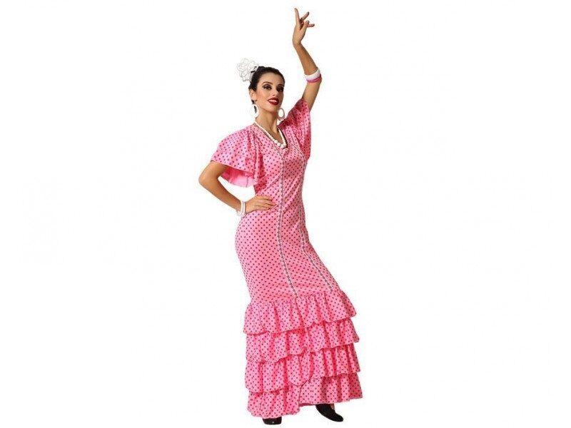 disfraz flamenca rosa mujer 800x600 - DISFRACES MUJER