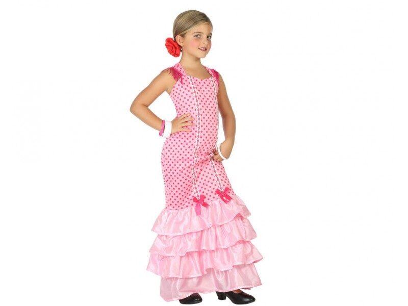 disfraz flamenca rosa niña 800x600 - DISFRAZ DE FLAMENCA ROSA NIÑA