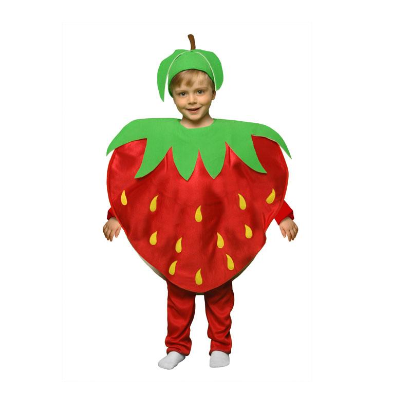 disfraz fresa infantil 1 - DISFRAZ DE FRESA NIÑA